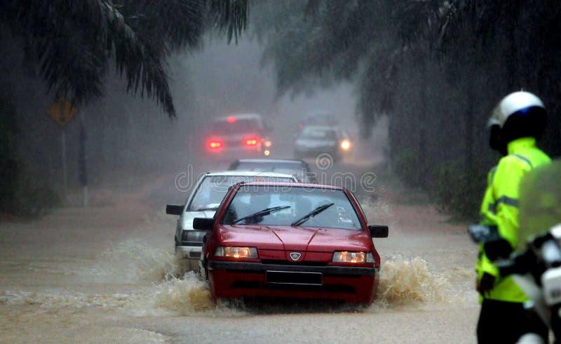 Inondazione, Malesia fotografia stock libera da diritti