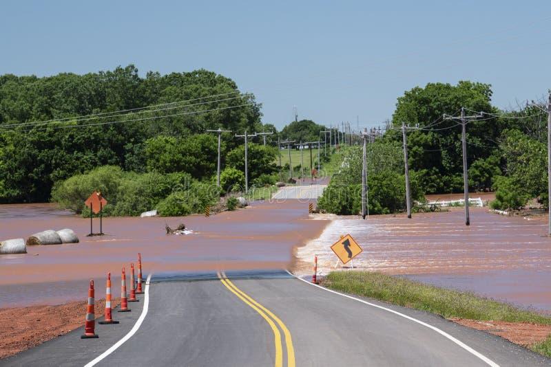 Inondazione in Oklahoma fotografia stock libera da diritti