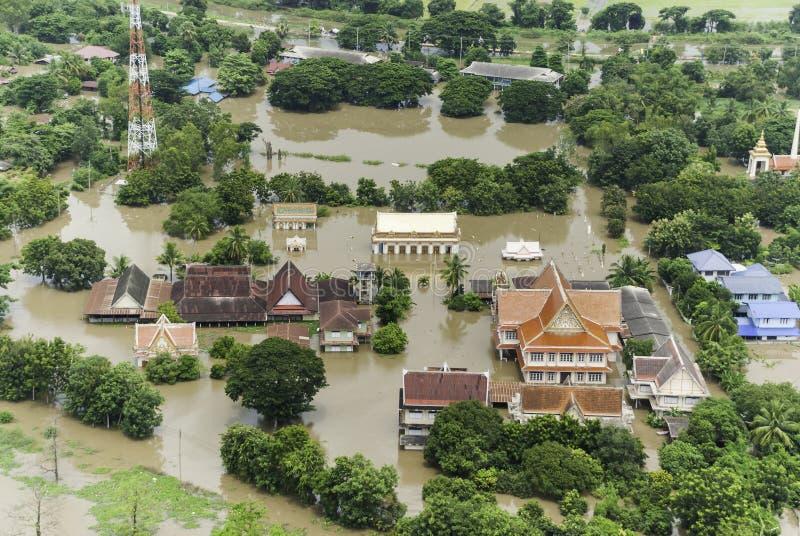 Inondazioni della Tailandia fotografia stock libera da diritti