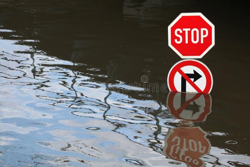 Inondazioni in Usti nad Labem, repubblica Ceca fotografie stock