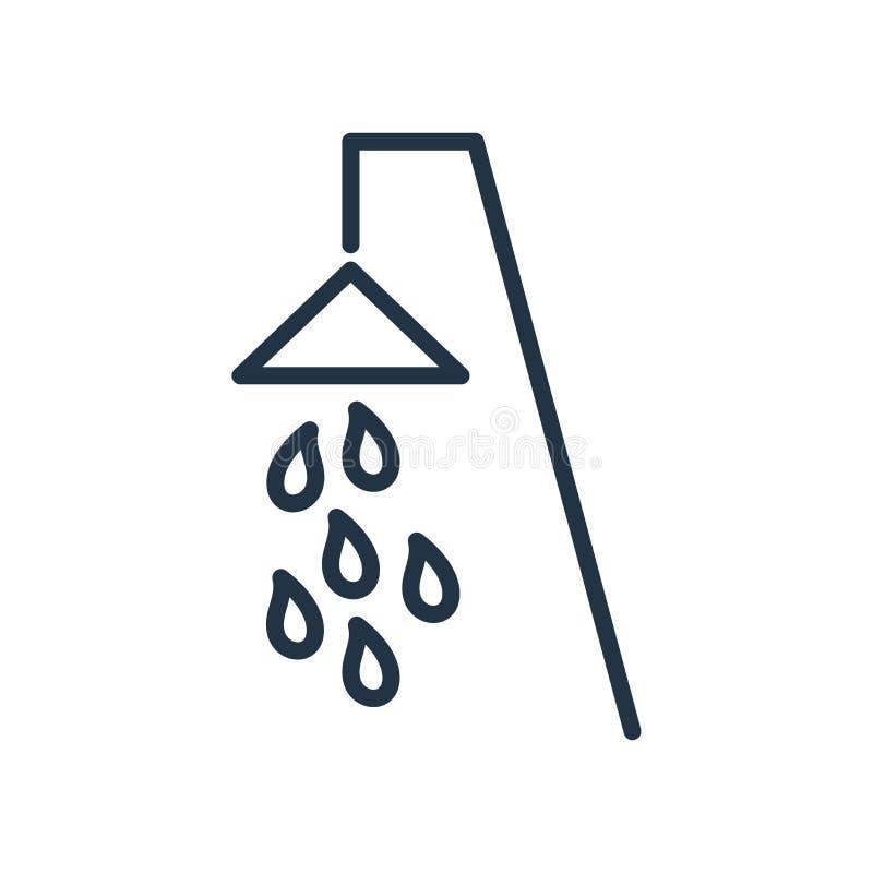 Inondi il vettore dell'icona isolato su fondo bianco, segno della doccia illustrazione di stock