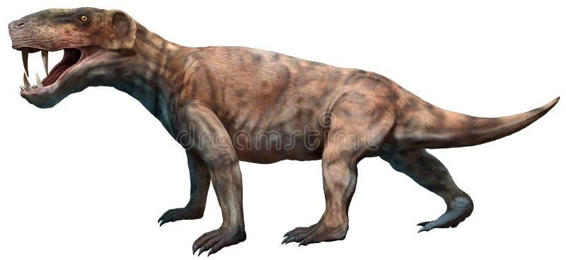 Inostrancevia 3D illustration. Inostrancevia from the Permian era 3D illustration vector illustration