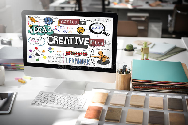 A inovação criativa do projeto inspira o conceito fotos de stock