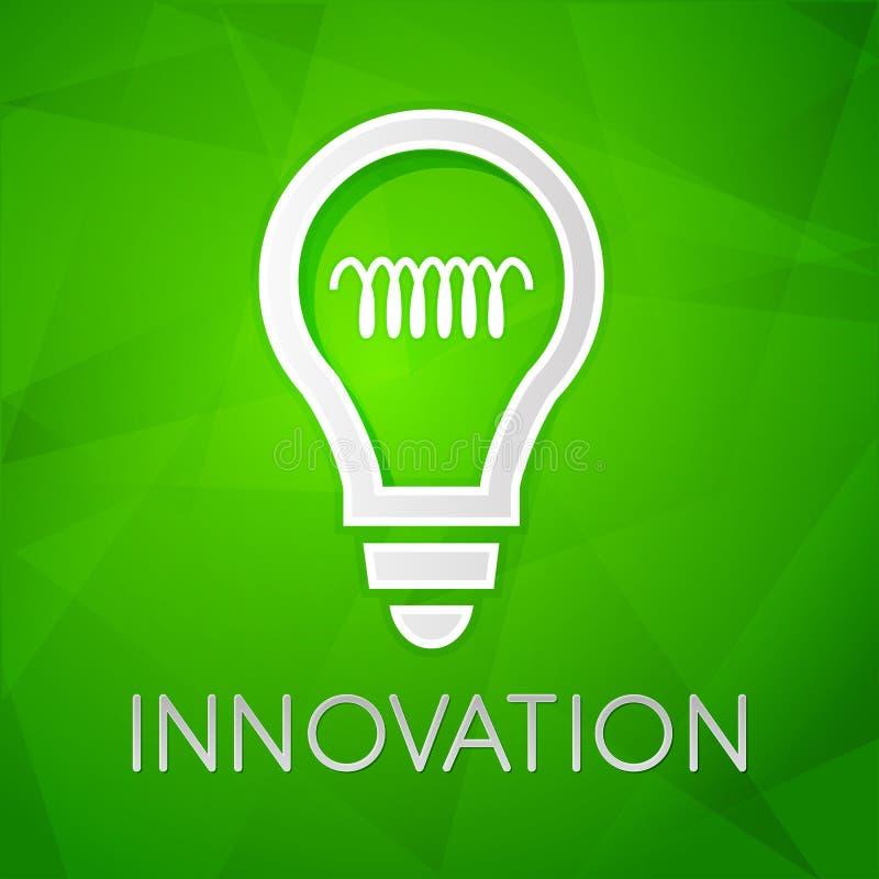 A inovação e a ampola assinam, desig liso ilustração royalty free