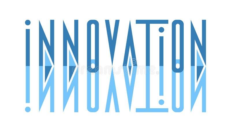 Inovação estilizada sumário da inscrição do projeto ilustração royalty free