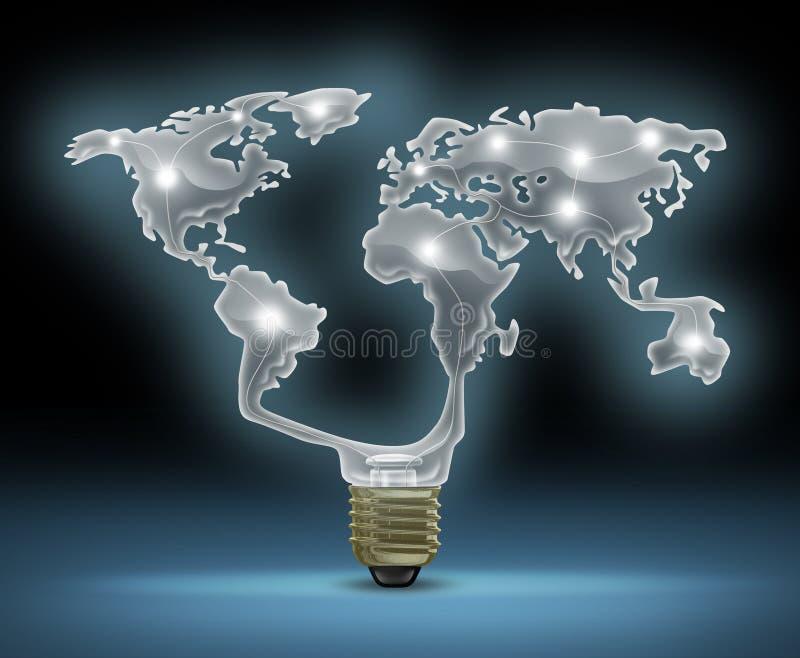 Inovação global ilustração royalty free