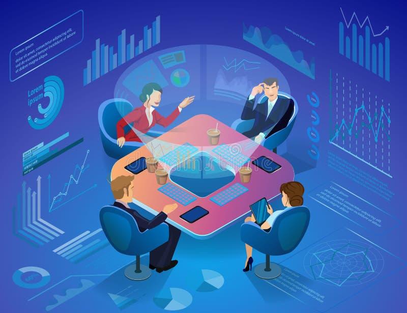 Inovações para o conceito bem sucedido do vetor do negócio ilustração royalty free