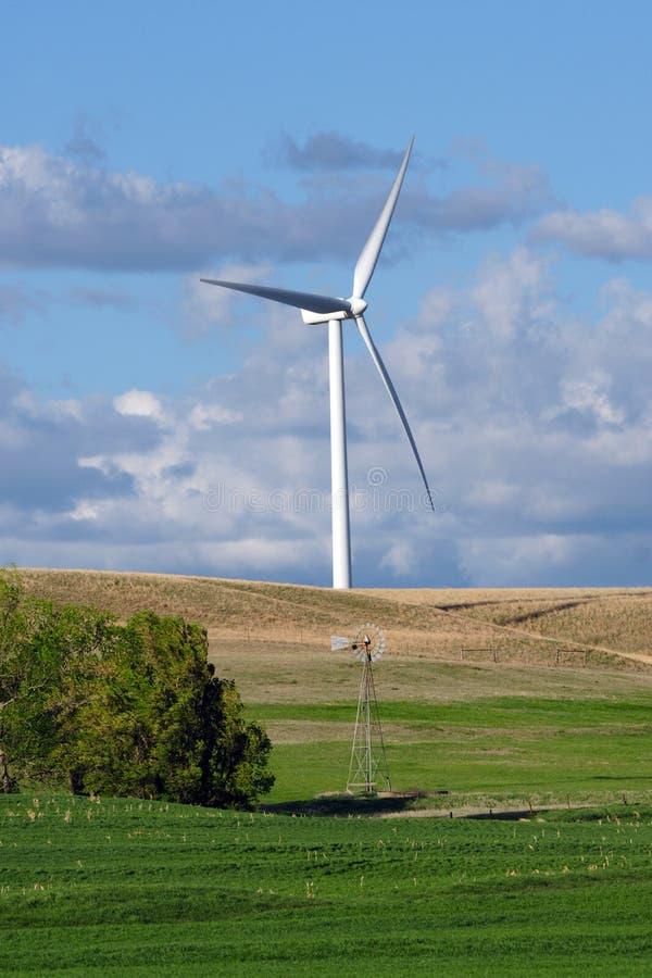 Free Inovation-Old Windmil And New Windturbine Stock Image - 18987781
