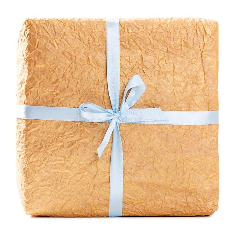 Inpackning för gåva för Kraft papper arkivbild