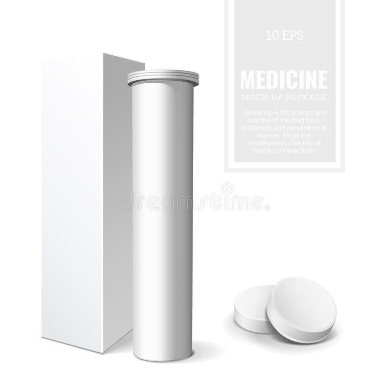 Inpakkende Geneesmiddel of Geneeskunde stock illustratie