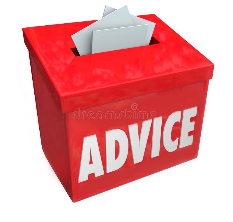 Input consultantesi di risposte di idea della scatola di suggerimento di parola di consiglio royalty illustrazione gratis