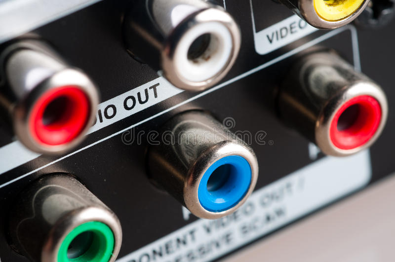 Download Input jacks with cable stock photo. Image of entertainment - 12798848