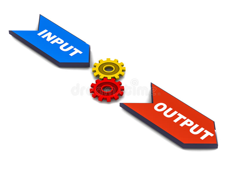 Download Input process output stock illustration. Image of output - 26790097