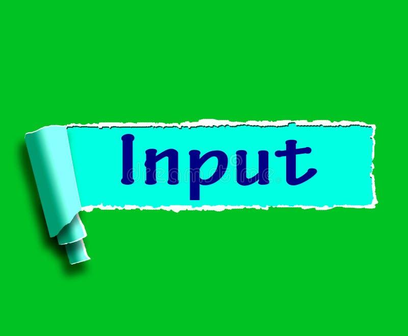 Inputword betekent Online Raad en Aanbevelingen royalty-vrije illustratie