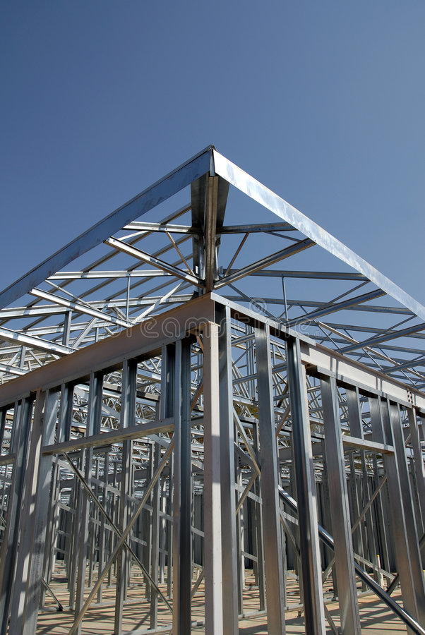 Inquadramento d'acciaio della costruzione immagini stock libere da diritti