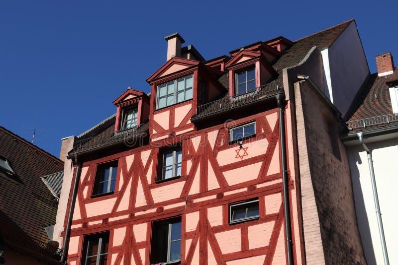 Inquadratura di legname, Norimberga fotografie stock