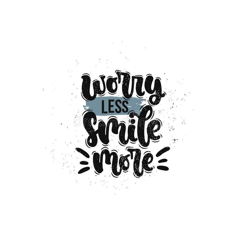 Inquiétude moins de sourire davantage illustration libre de droits