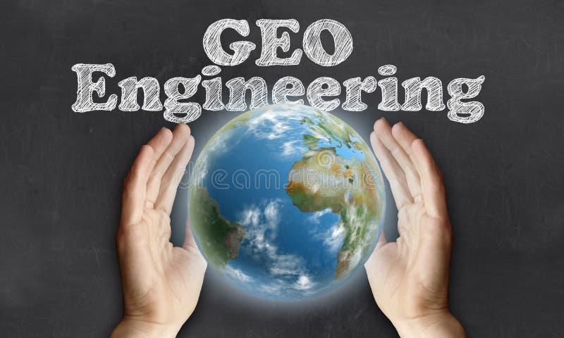 Inquietação com a terra com engenharia de Geo ilustração royalty free
