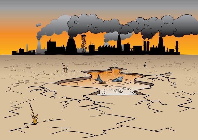 Inquinamento ambientale illustrazione vettoriale