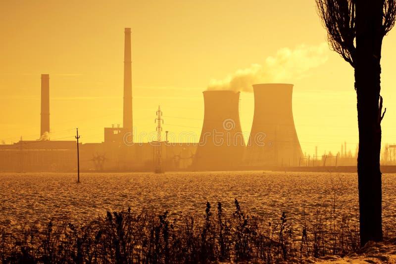 Inquinamento ambientale di industria fotografia stock