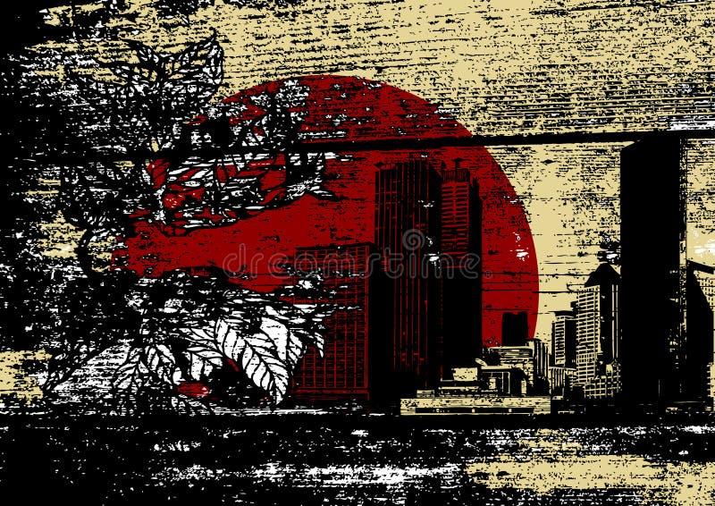 Inquinamento. Arte di vettore illustrazione di stock