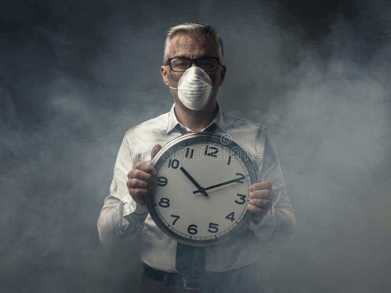 Inquinamento atmosferico in modo allarmante fotografia stock