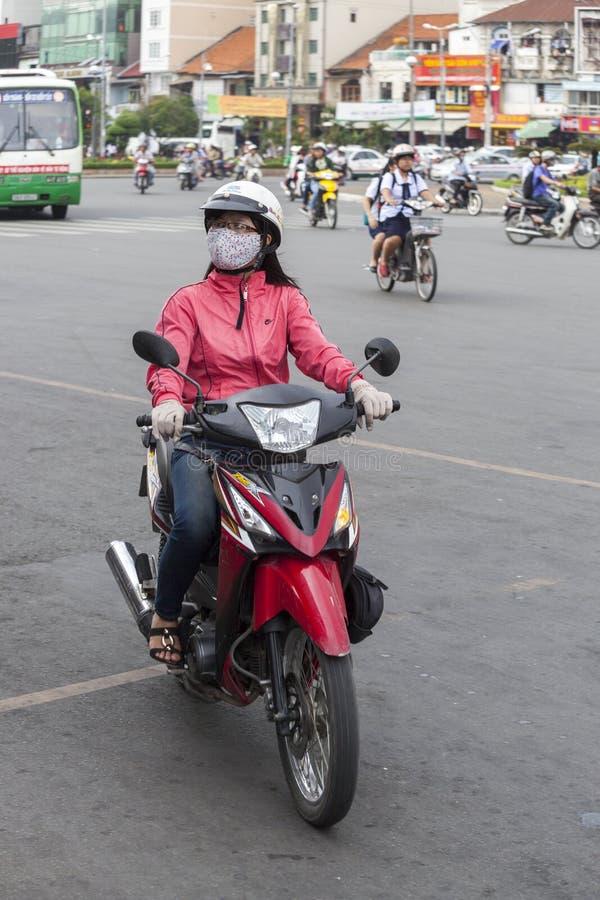 Inquinamento atmosferico nella città di Ho Chi Minh, Vietnam immagini stock libere da diritti