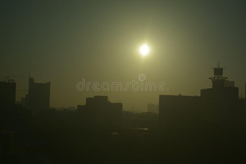 Inquinamento atmosferico severo Cina fotografie stock libere da diritti
