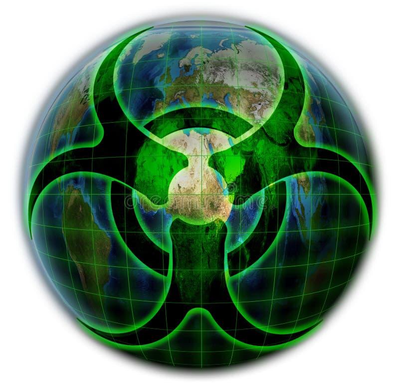 Inquinamento biologico di pianeta Terra royalty illustrazione gratis