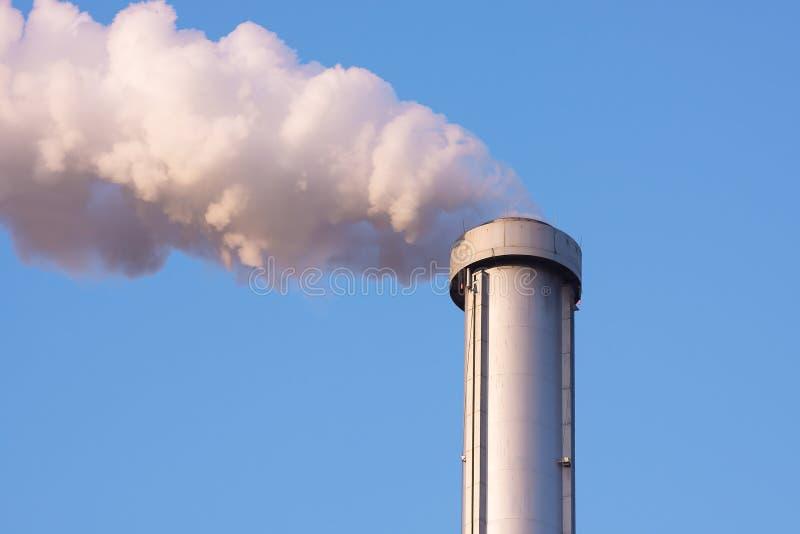 Inquinamento della pila di fumo fotografie stock libere da diritti