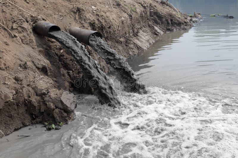 Inquinamento delle acque fotografia stock libera da diritti