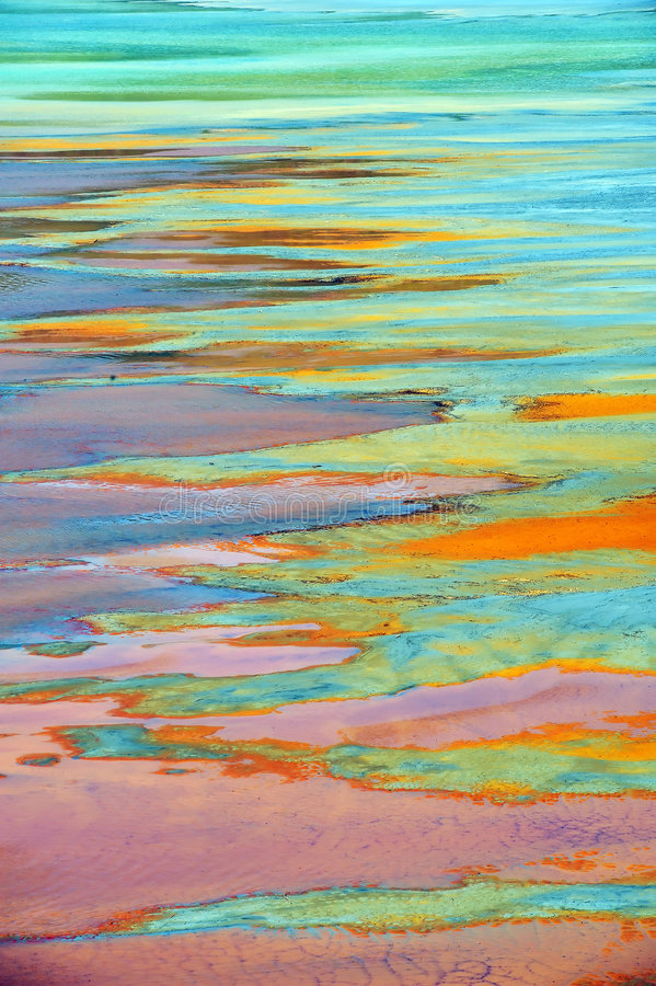 Inquinamento delle acque fotografia stock