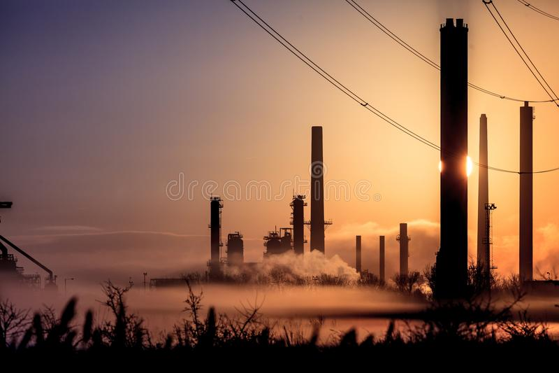 Inquinamento 2 di mattina fotografie stock