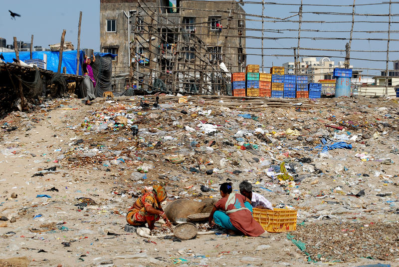 Inquinamento di Mumbai fotografia stock
