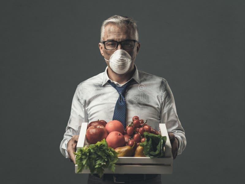 Inquinamento e contaminazione dell'alimento fotografia stock