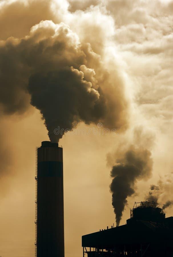 Inquinamento industriale fotografie stock libere da diritti