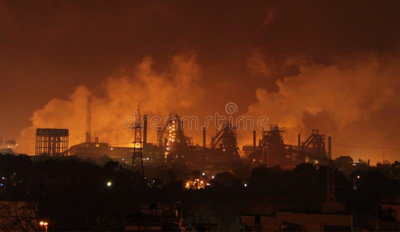 Inquinamento industriale pesante fotografie stock