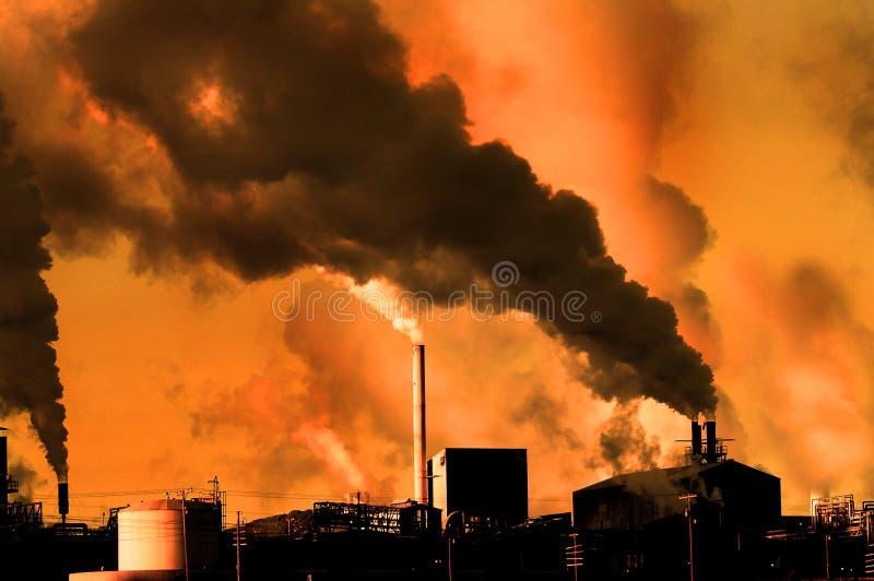 Inquinamento nell'aria fotografie stock libere da diritti