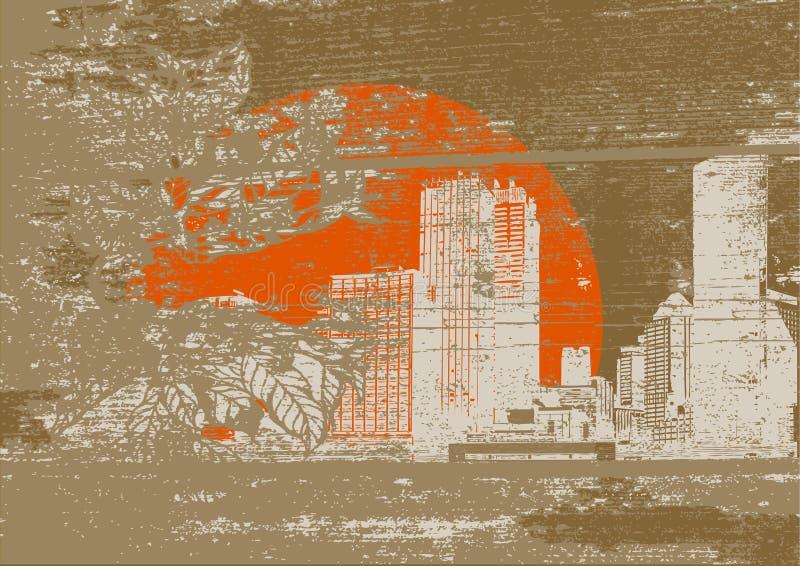 Inquinamento nella città. Vettore   illustrazione vettoriale