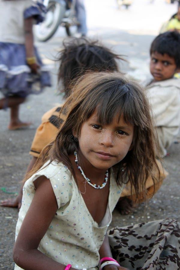 Download Inquisitive Beggar Girl stock photo. Image of children - 11317034