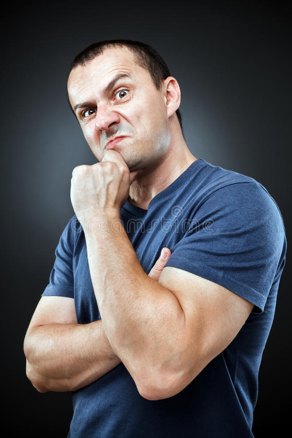 Download Inquisitive man stock image. Image of distrust, concern - 25320109