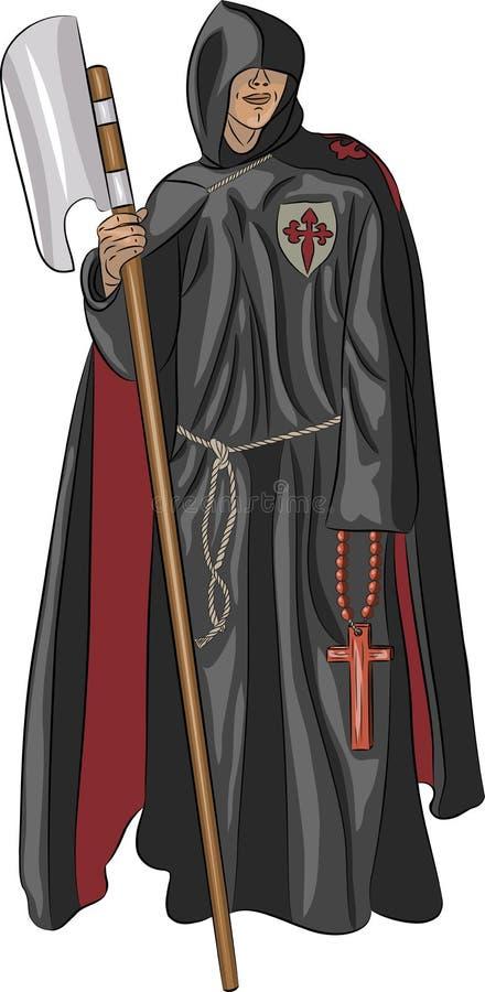 Inquisitore del monaco di vettore illustrazione vettoriale