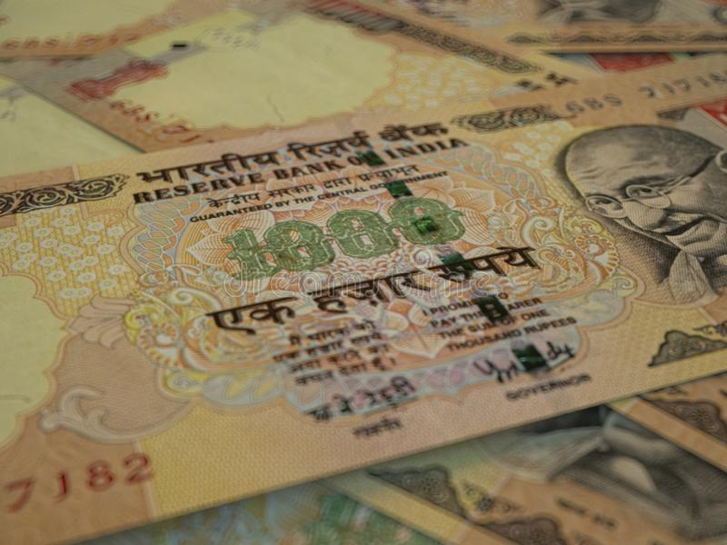 INR. Indian currency. Money of India business background.  Indian Rupees stock photography
