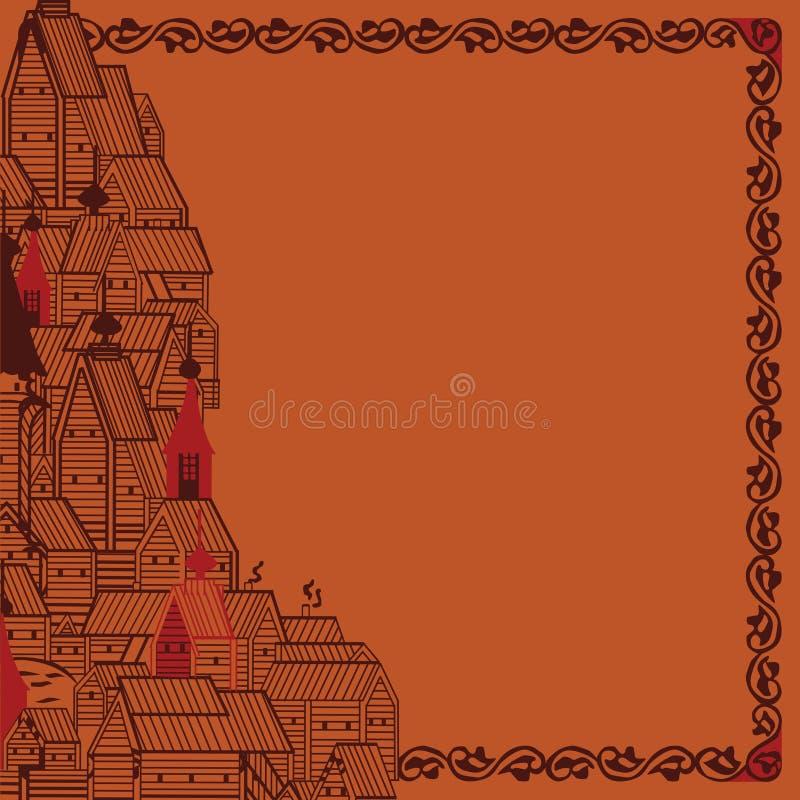 Inrama rysk folklore royaltyfri illustrationer
