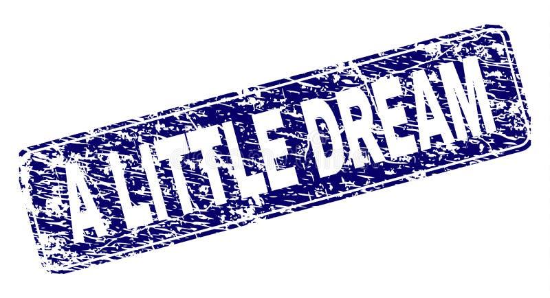 Inramad rundad rektangelstämpel för Grunge LITE DRÖM royaltyfri illustrationer