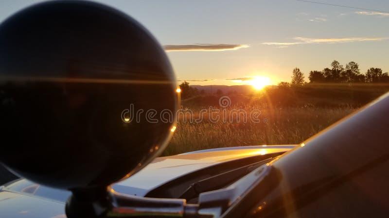 Inramad solnedgång royaltyfria bilder