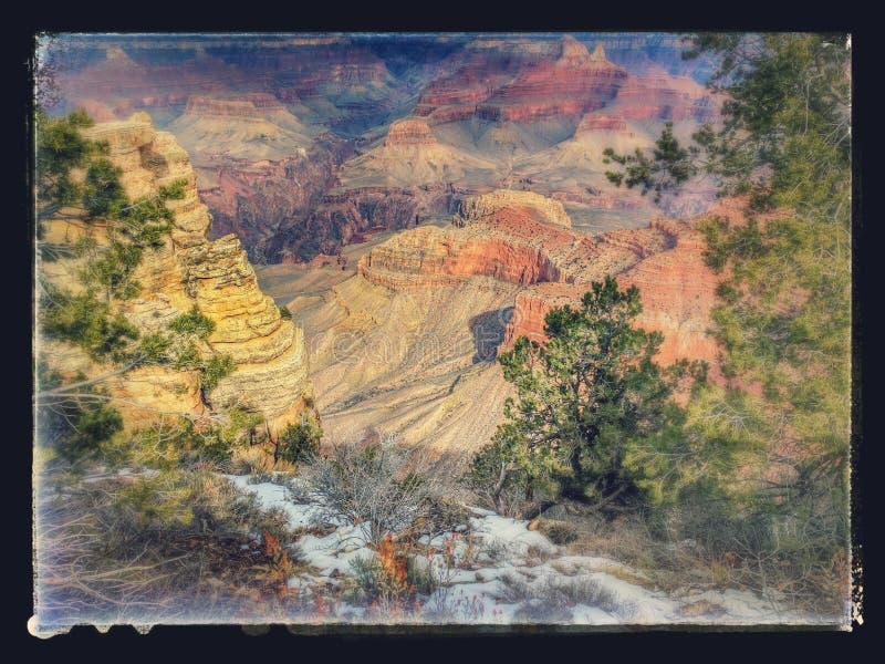 Inramade Grand Canyon arkivfoto