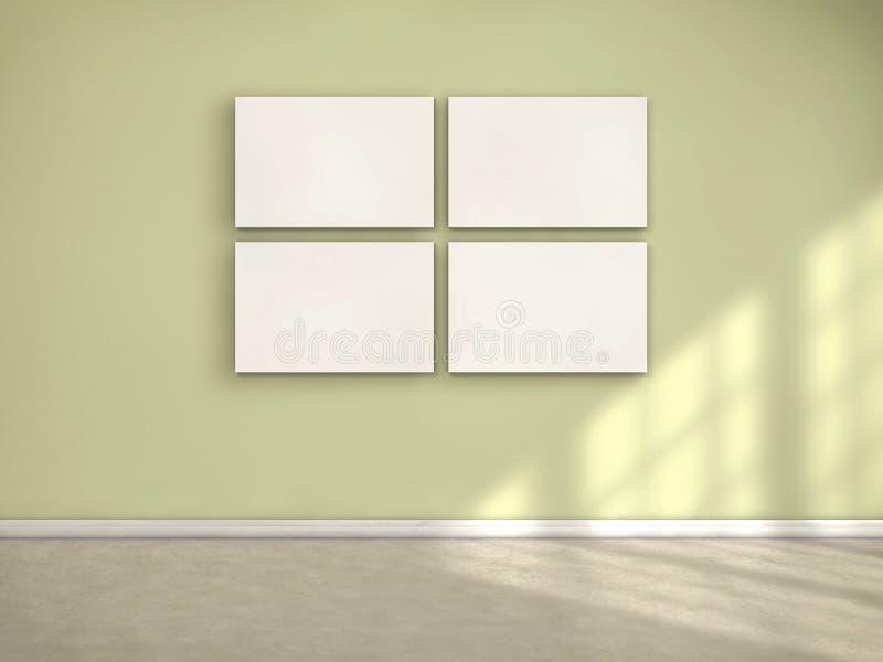 Inramar på väggen vektor illustrationer