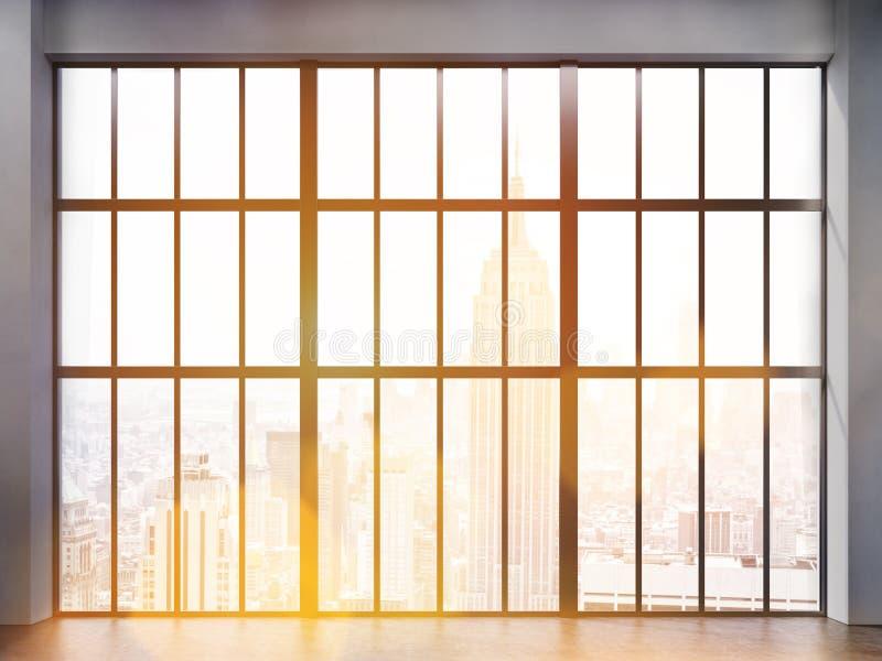 Inramat fönster med NY-sikt vektor illustrationer
