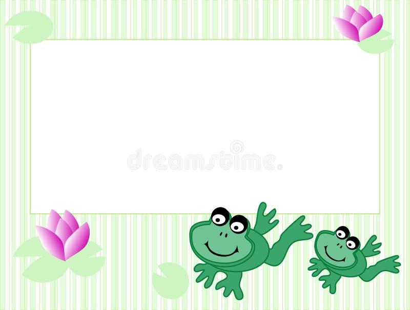 inramnin grodor vektor illustrationer